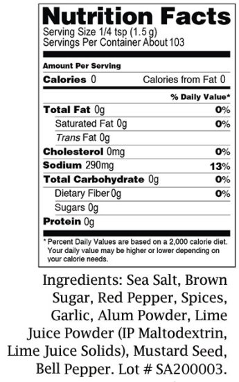 Nutrition and Ingredients